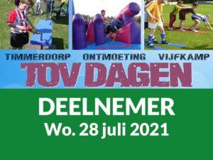 Deelnemer TOV Dagen 28 Juli