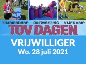 Vrijwilliger TOV Dagen 28 Juli